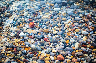 Stones on Van's Beach: Leland, Michigan