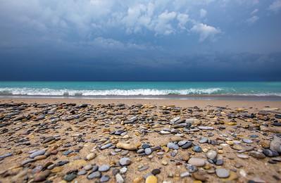 Storm approaching Van's Beach: Leland, Michigan