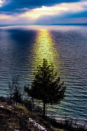 Empire Bluffs Cedar Sunset