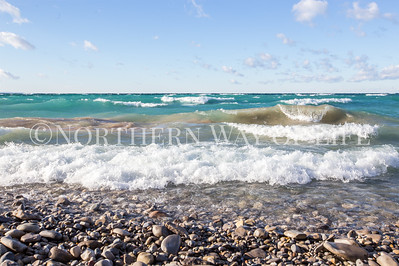 Crashing waves: Northport, Michigan