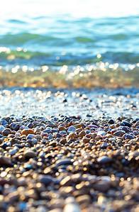 Sparkles at sunset on Van's Beach: Leland, Michigan