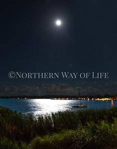 Moonrise: Suttons Bay, Michigan