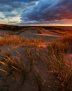 Sleeping Bear Dunes Stormy Sunset