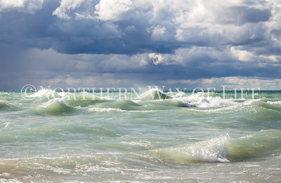 waves on lake michigan: frankfort