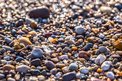 Beach glass on Van's Beach: Leland, Michigan