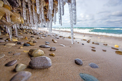 Ice Shelf on Van's Beach: Leland, Michigan