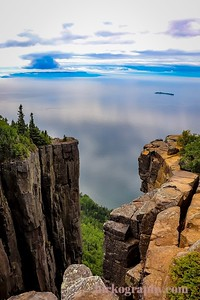 950 feet above Lake Superior, this is the view from the top of Sleeping Giant Provincial Park, ON, Canada