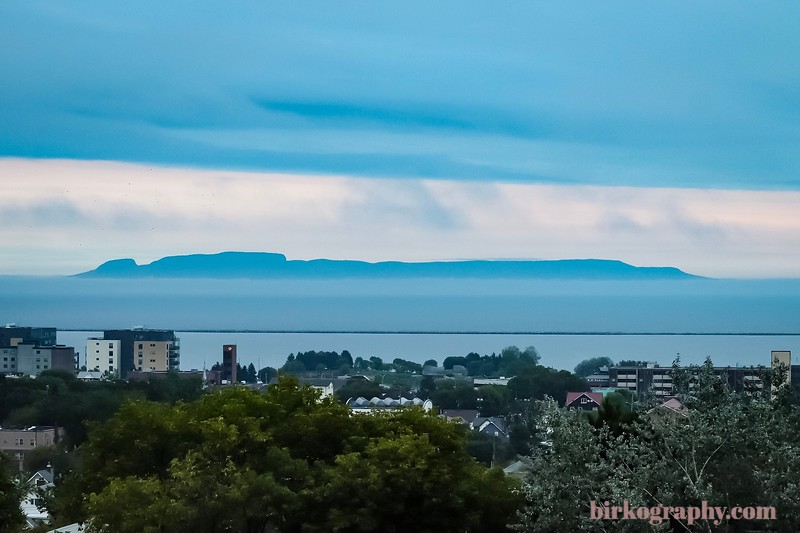 The Giant Sleeps!  This is Sleeping Giant Provincial Park shot from Thunder Bay, ON, Canada