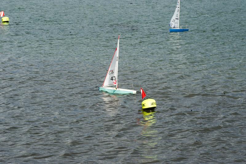 Bøjerne er udlagt og bådene klar