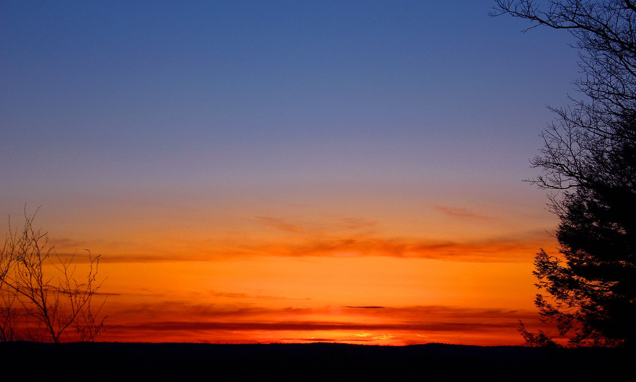 a sunset in upstate NY..