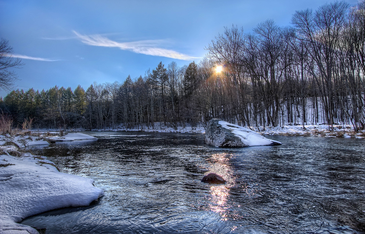 frigid low-lying stream.. spring around the corner