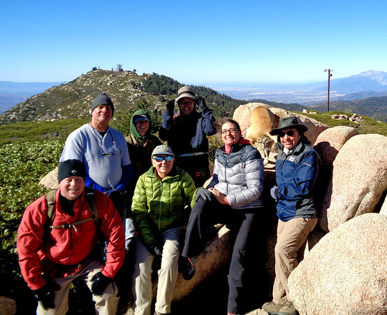 Slide Peak and Sequoia Tree Grove Hike with Sierra Club, Running Springs CA October 19, 2018