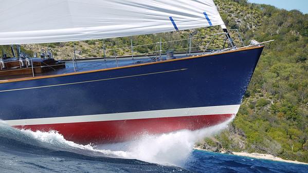 Rebecca's bow rises in Antigua