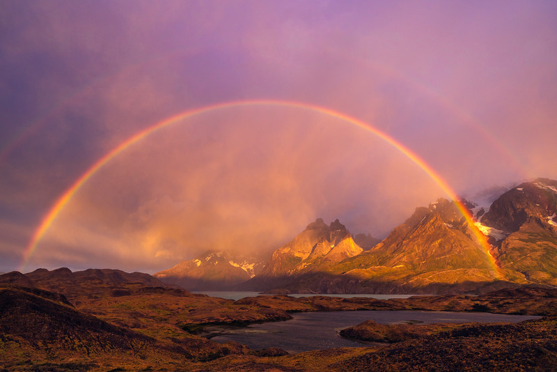Double Rainbow Over Torres del Paine