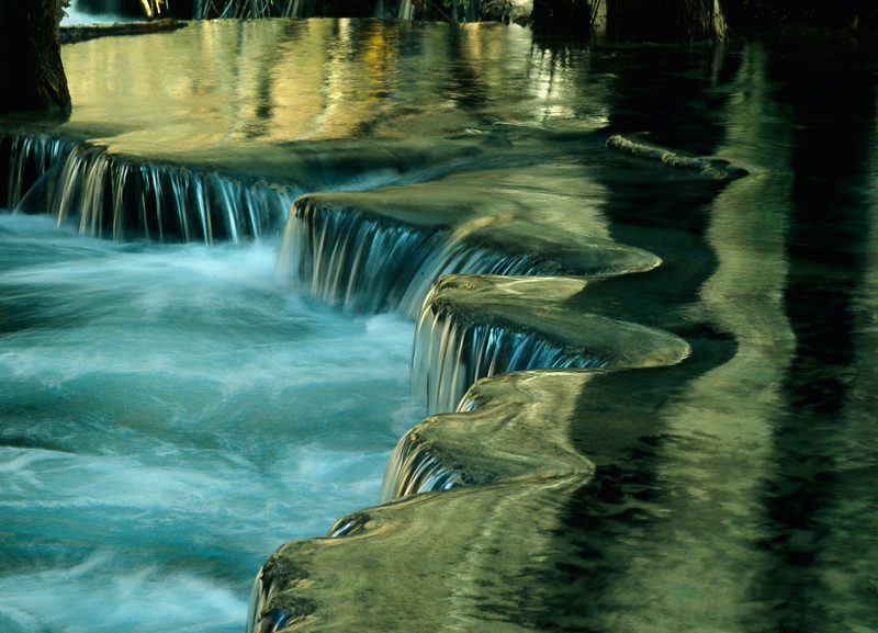 Small Waterfall, Havasu Creek, Havasupai Indian Reservation, Supai,  Arizona, 6x4.5 medium format image