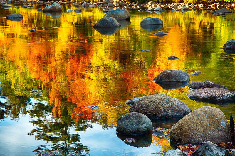 Colorful Reflections in a Creek