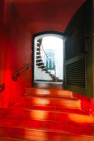 Red Doorway to a Spiral Staircase, Cabo Rojo Lighthouse, Puerto Rico