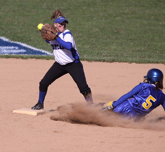 Bri turning a double play...