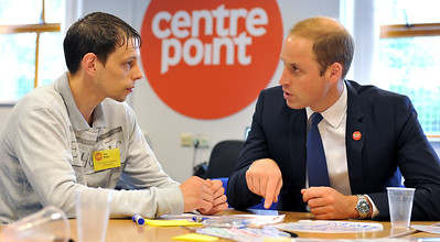 HRH Duke of Cambridge visit to Centrepoint Bradford Foyer to Resident Joe Rider.