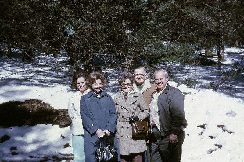 Early spring in the Smokies -- Brenda, Aunt Laura Mae, Mother, Daddy, Uncle George