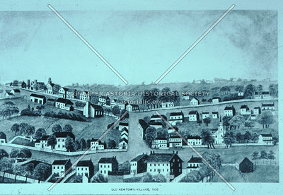 View of center of Newtown, Broadway at Queens Blvd., 1850