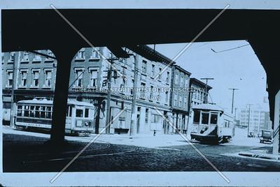 Borden Avenue at Vernon Blvd under Vernon Blvd. Bridge, 1937, Hunters Point