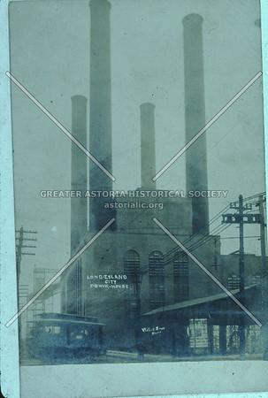 Pennsylvania RR Powerhouse smokestacks, 51 Ave., Hunters Point