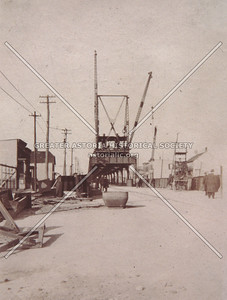 Construction of Astoria elevated, 1915