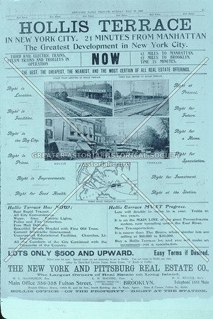Hollis Terrace newspaper ad