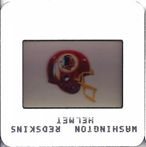 Redskins Helmet 1985 TV Slides