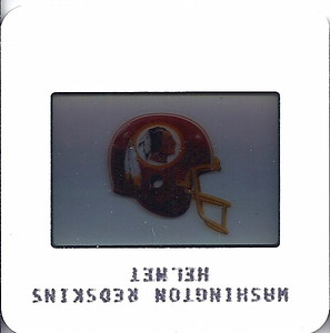 Redskins Helmet 1986 TV Slides