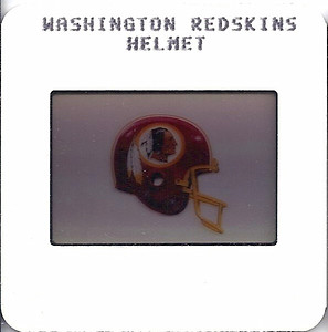 Redskins Helmet 1987 TV Slides