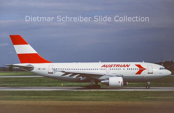 OE-LAA Airbus A310-324 (c/n 489) Austrian Airlines