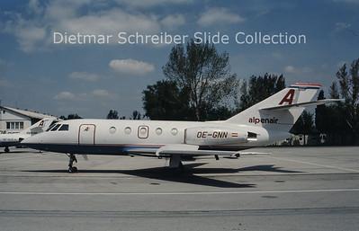 OE-GNN Dassault Falcon 20E (c/n 298) Alpenair