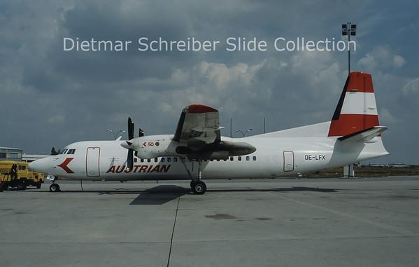 OE-LFX Fokker 50 Austrian Airlines