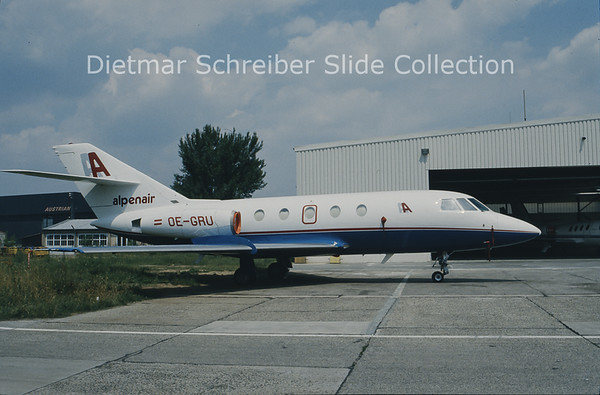 OE-GRU Falcon 20 Alpenair