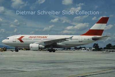 OE-LAB Airbus A310-324 (c/n 492) Austrian Airlines