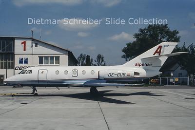 OE-GUS Falcon 20 Alpenair