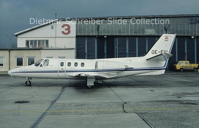 OE-FIW Cessna 500 Citation 1 (c/n 500-0398) Viennair Polsterer Jets