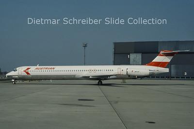 OE-LMA MDD MD81 (c/n 49278) Austrian Airlines
