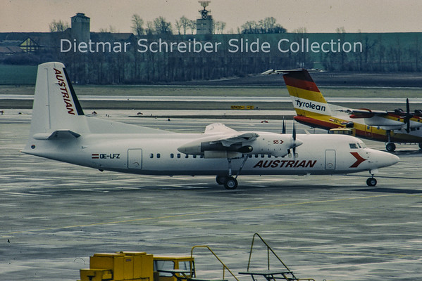 OE-LFZ Fokker F50 (c/n 20117) Austrian Air Service; Austrian Airlines