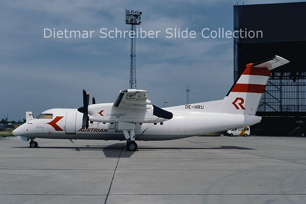 OE-HRU Bombardier Dash 8-103A (c/n 317) Rheintalflug