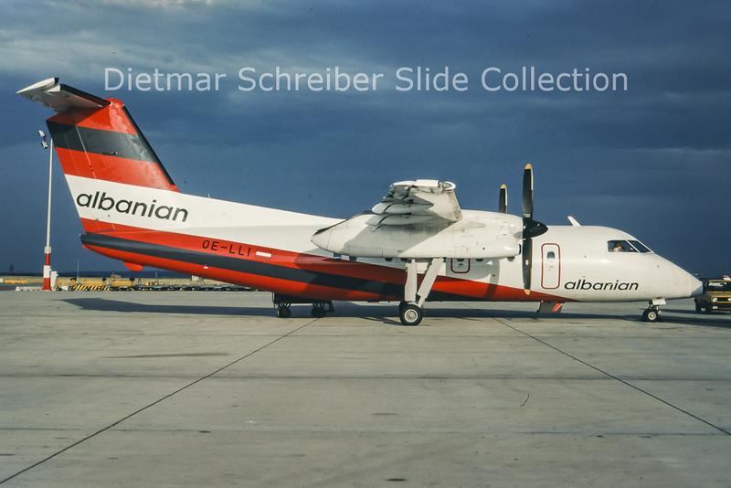 OE-LLI Dash DHC8-100 Albanian Airlines