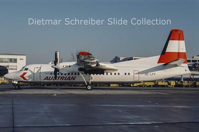 OE-LFF Fokker F50 (c/n 20264) Austrian Air Service; Austrian Airlines