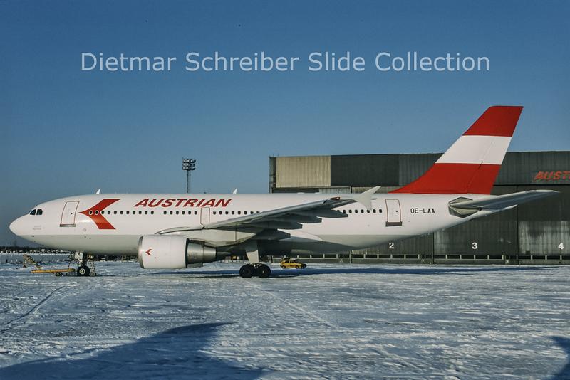 1996-01 OE-LAA Airbus A310-324 (c/n 489) Austrian Airlines