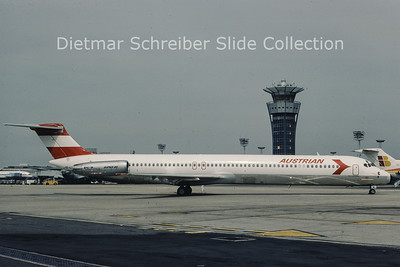 1982-06 OE-LDW MDD MD81 (c/n 48059) Austrian Airlines