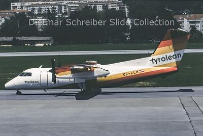 1991-07-06 OE-LLH Dash DHC8-100 Tyrolean Airways