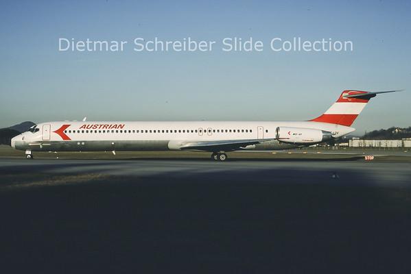 1988-01 OE-LDV MDD MD81 (c/n 48020) Austrian Airlines