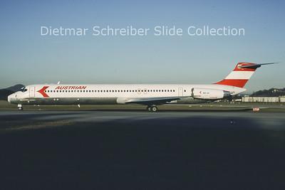 1988-01 OE-LDV MDD MD80 Austrian Airlines