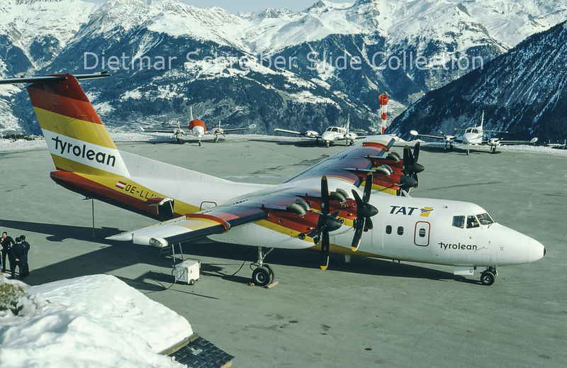 OE-LLU DHC Dash 7-100 (c/n 113) TAT European Airlines